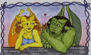 Gargoyles in Love by piecesoeight