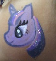 Twilight Sparkle Face Painting by AlicornLover