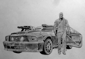 DEATH RACE-FRANKENSTEIN by HoustonTxArtist