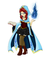 Blue Mage Girl Adoptable - SOLD by ShadowInkAdopts