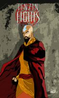Tenzin Fights for Republic City by tsbranch
