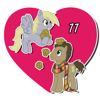 14 Days of OTP Treats_Derpy and Dr. Whooves by MevrouwRoze