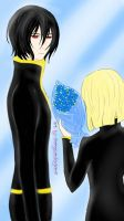 Blue Roses for the Noblesse by chengsandagan111
