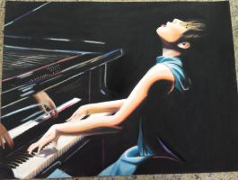 Piano Girl by incandes