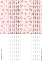 Pink Roses Lucky Paper Stars paper by Heisotsu