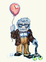 Day 7: Carl Fredricksen by SteamboatLyssie