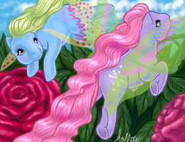 Whirly N Flurry Ponies by hollowzero