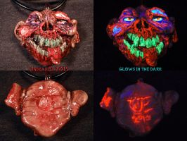 Zomboy Pendant by Undead Ed Glows in the Dark 1 by Undead-Art