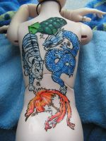 Tenshiro's tatoo by Koosoochie