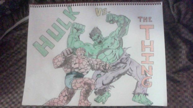 Hulk vs. The Thing by SweetL3w