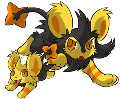 Yo Shiny Luxio and Shinx! by SoftMonKeychains