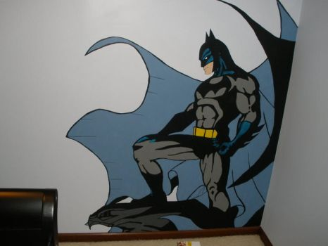 Batman mural by Shroggy