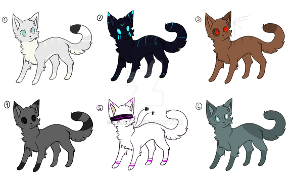 adopts cats (4/6) by IceBlade16