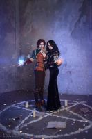 The Witcher 3: Wild hunt - Yennefer and Triss by ver1sa
