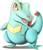 Totodile from Pokemon Gold and Silver by MatsuoAmon
