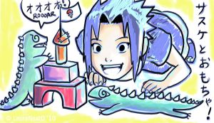Playtime for Sasuke-chan by lauraneato