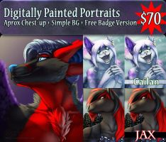 January Portrait Commissions OPEN by Temrin