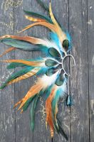 Feather Ear Cuff - Autumn Eyes by chop-chop
