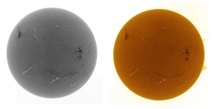 Solar disk in H-alpha by GreatAttractor