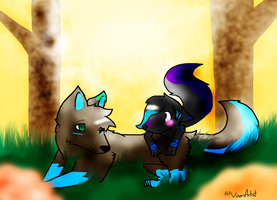 Autumn: Taint and Shy by VixenArtist