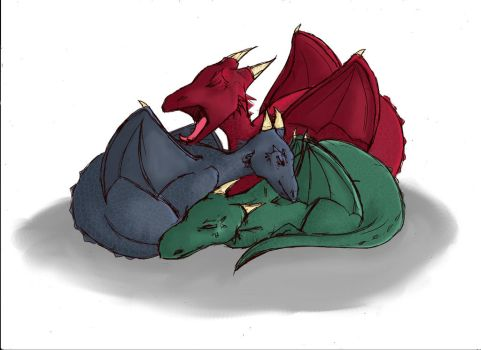 Baby Dragons by Wirrer