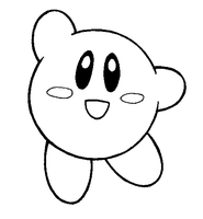Kirby Lineart by FlintofMother3