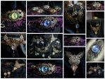 Dragon eyes jewelry collage by Cyanida