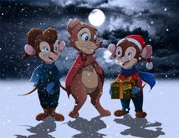A Very Brisby Christmas by WhiteLionWarrior