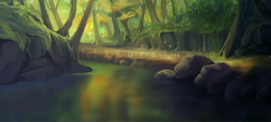 Scenery Forest WIP by Avaira
