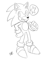 Classic Sonic Doodle by WhiteRaven4