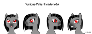 MLP Varlious Valier headshots by The-Clockwork-Crow
