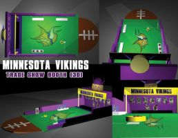 MN Vikings Booth 3D by davilesdesigns