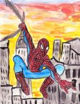 SpiderMan Painting by flyparachutes