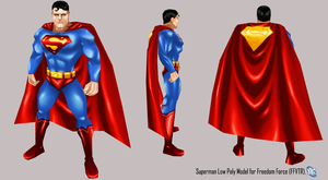 Superman Low Poly 3D Model by IUltrahumanite