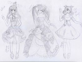 free art for Adline, Elfy The Sheep, Alexis by keiZap