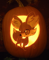 Fennekin Pumpkin Light Version by johwee