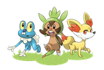 Pokemon X/Y Starters by threeQuestions
