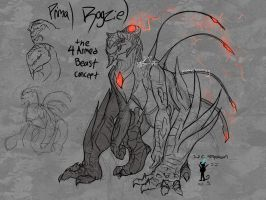 The Four Armed Beast [Primal Rogziel concept] by Herobrineing