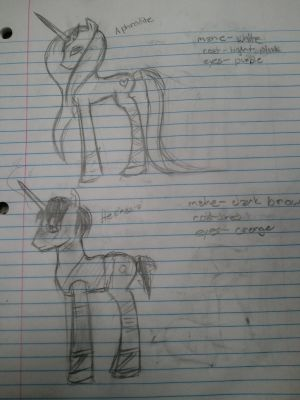 Aphrodite and Hephaestus -Pony forms-