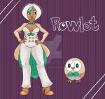 Rowlet Pinup by FlavorlessMuffin
