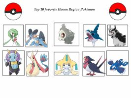 Hoenn Faves. by monstermaster13