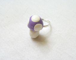 Pastel Mushroom Ring by MariposaMiniatures