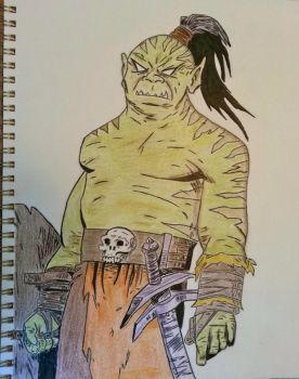 Atrocious Orc Colored Version (Final) by Darkendrama