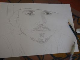 Johnny Depp WIP by shaharpr
