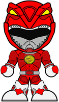 Chibi MMPR Red - Mega Mode by Zeltrax987