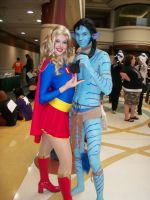 Avatar and Supergirl by DartFeld