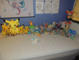 Half of all the Pokemon merch I own by Sweirde