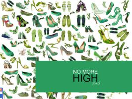 green high heel shoes by razangraphics