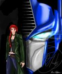 Optimus and Kate by RebArc