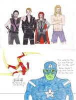 Avengers - Costume Swap by honest-liar-13